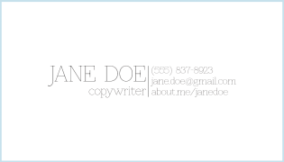 A sample business card done in Adobe Photoshop CS6.